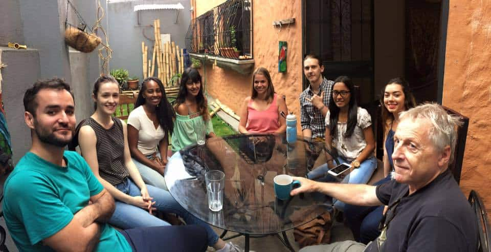 Students in conversation class spanish lessons